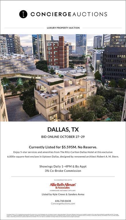 Dallas Neighborhood Home For Sale - $5,595,000